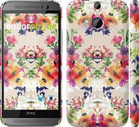 "Чехол на HTC One M8 dual sim Цветочный узор ""1083c-55"""