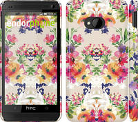 "Чехол на HTC One M7 Цветочный узор ""1083c-36"""