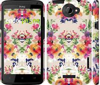 "Чехол на HTC One X Цветочный узор ""1083c-42"""