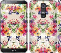 """Чехол на LG G2 Цветочный узор """"1083c-37"""""""