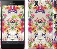 "Чехол на Sony Xperia Z C6602 Цветочный узор ""1083c-40"""