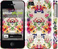 """Чехол на iPhone 4s Цветочный узор """"1083c-12"""""""