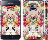 """Чехол на Samsung Galaxy S2 i9100 Цветочный узор """"1083c-14"""""""