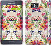 """Чехол на Samsung Galaxy Alpha G850F Цветочный узор """"1083c-65"""""""