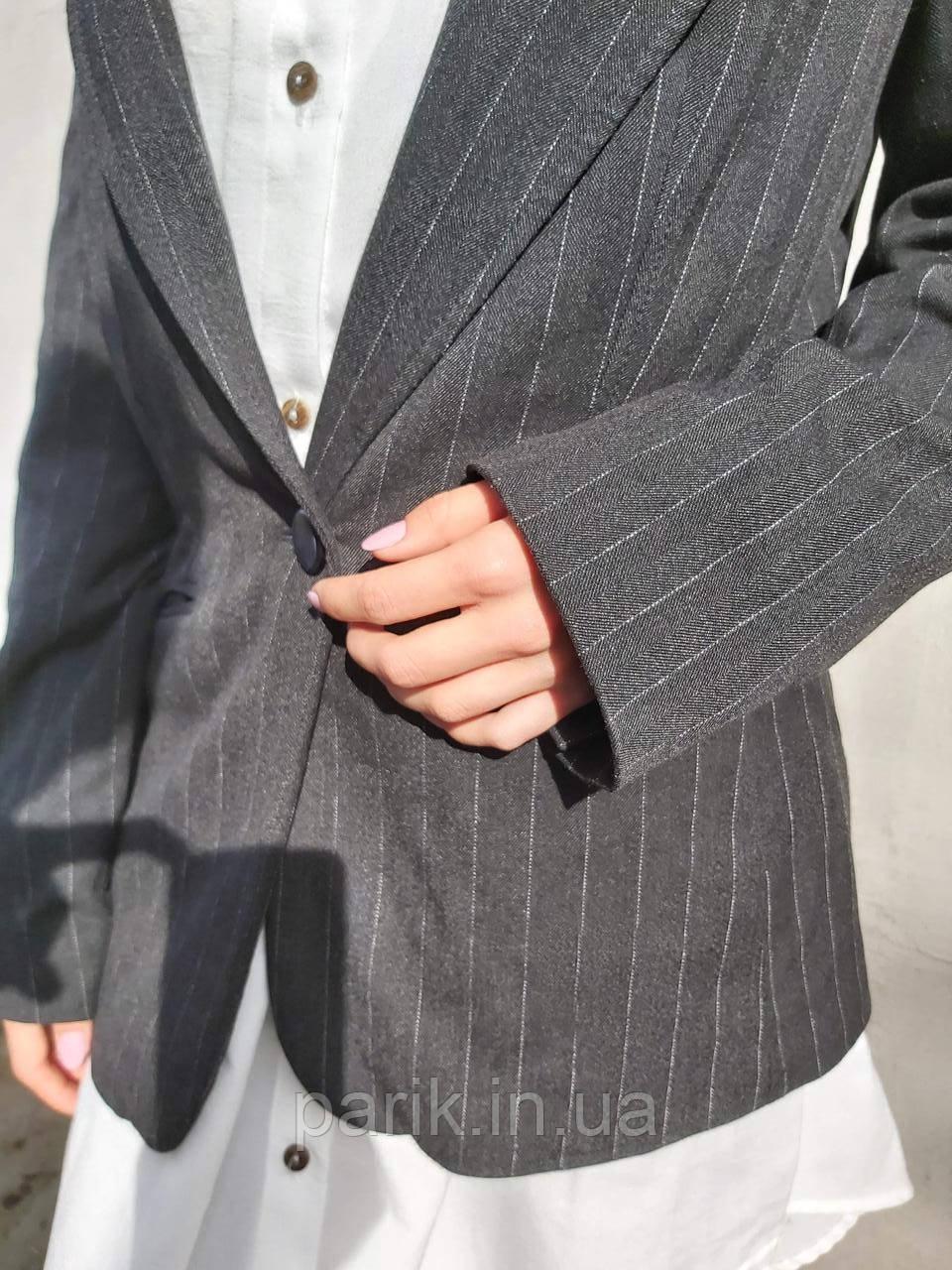 Женский стильный черный жакет. пиджак для девушки