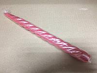 Свеча декоративная витая перламутровая розовая h- 25см