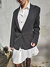 Женский стильный черный жакет. пиджак для девушки, фото 3