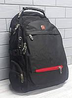 Рюкзак городской с плотной спинкой SWISSGEAR WENGER с выведенным USB и кабелем для наушников
