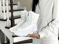 Женские зимние ботинки Adidas 8531 белые, фото 1