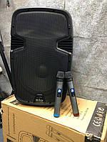 Акустична система з мікрофонами та акуумулятором BIG JB12RECHARG350+MP3/FM/Bluetooth+DC-DC INVERTOR