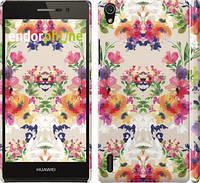 "Чехол на Huawei Ascend P7 Цветочный узор ""1083c-49"""