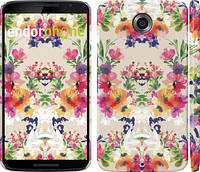 """Чехол на Motorola Nexus 6 Цветочный узор """"1083c-67"""""""