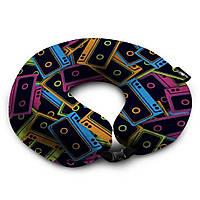 Надувная дорожная подушка для путешествий, разноцветная, для поездок