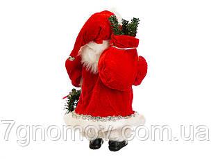 Дед Мороз под елку, Санта Клаус с веночком 30 см, фото 2