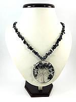 """Эксклюзивное ожерелье """"Дерево жизни"""" крошка, Изысканное ожерелье из натурального камня, красивые украшения"""
