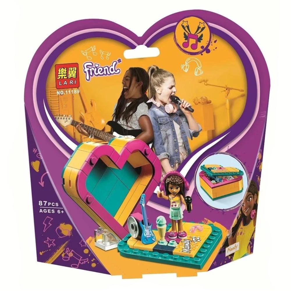"Конструктор Bela (Lari) 11189 ""Шкатулка-сердечко Андреа"" (реплика Lego Friends 41354), 87 дет"