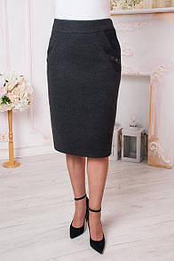 Теплая юбка больших размеров
