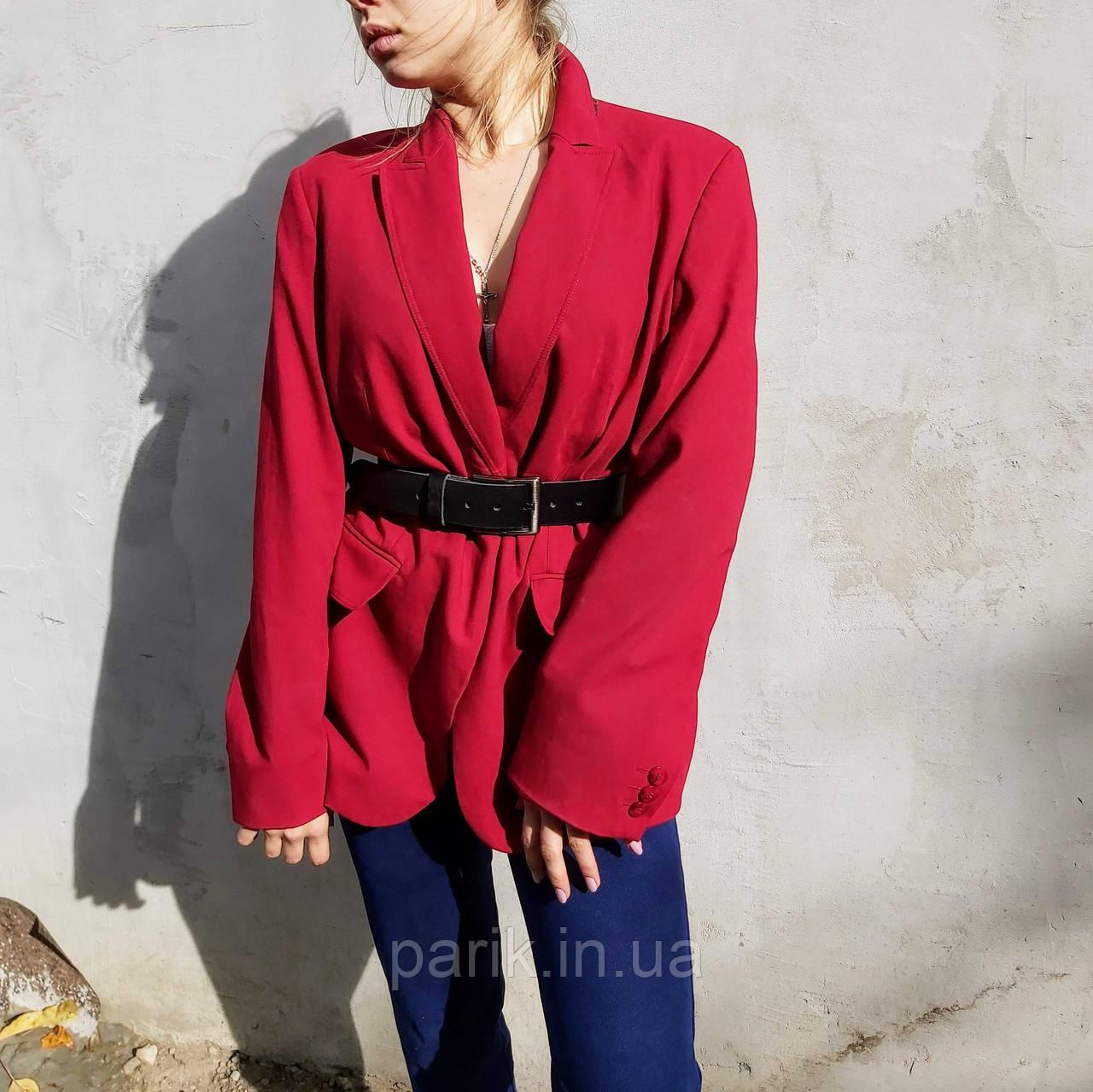 Женский стильный красный жакет. пиджак для девушки
