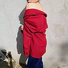 Женский стильный красный жакет. пиджак для девушки, фото 4