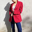 Женский стильный красный жакет. пиджак для девушки, фото 7