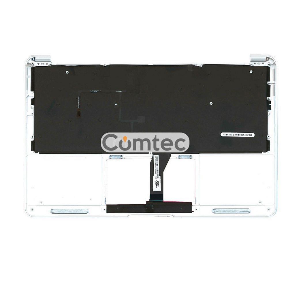 Клавиатура для ноутбука Apple MacBook Air 2012+ (A1465) черный с топ панелью, Русская (горизонтальный энтер)
