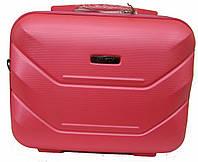 Дорожный бьюти-кейс с креплением на чемодан, как дополнение к чемодану, красный
