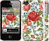 "Чехол на iPhone 4s Цветы 20 ""2525c-12"""