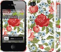 "Чехол на iPhone 4 Цветы 20 ""2525c-15"""