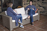 Набір садових меблів California 3-Seater Sofa Cappuccino ( капучіно ) з штучного ротанга ( Allibert ), фото 3
