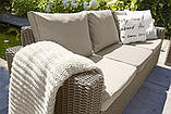 Набір садових меблів California 3-Seater Sofa Cappuccino ( капучіно ) з штучного ротанга ( Allibert ), фото 10
