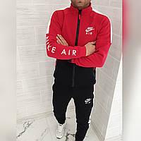 Мужской зимний теплый спортивный костюм трехнитка красный черный с м л хл ххл, фото 1