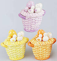 "Корзина для яиц ""Цыплята"" декоративная из керамики 16см, фото 1"