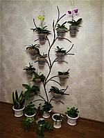 "Подставка для цветов на 12 колец ""Дерево-2 настенное"""