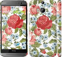 "Чехол на HTC One M8 dual sim Цветы 20 ""2525c-55"""