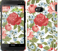 "Чехол на HTC One M7 Цветы 20 ""2525c-36"""