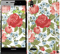 "Чехол на Huawei Ascend P6 Цветы 20 ""2525c-39"""