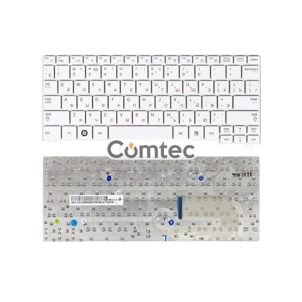 Клавиатура для ноутбука Samsung (N140, N150, N145, N144, N148) белый, Русская