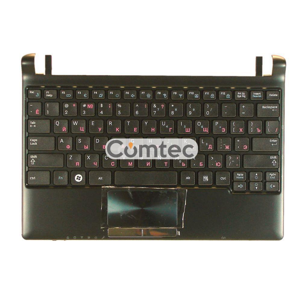 Клавиатура для ноутбука Samsung (N250) черный, с топ панелью (черный), Русская
