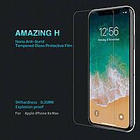 "Стекло на айфон Защитное стекло Nillkin Anti-Explosion Glass (H) для Apple iPhone XS Max (6.5"") (+пленка) Прозрачное"