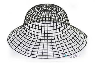 Пластиковая канва для шляп_Черный