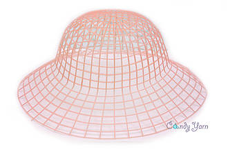 Пластиковая канва для шляп_Розовый