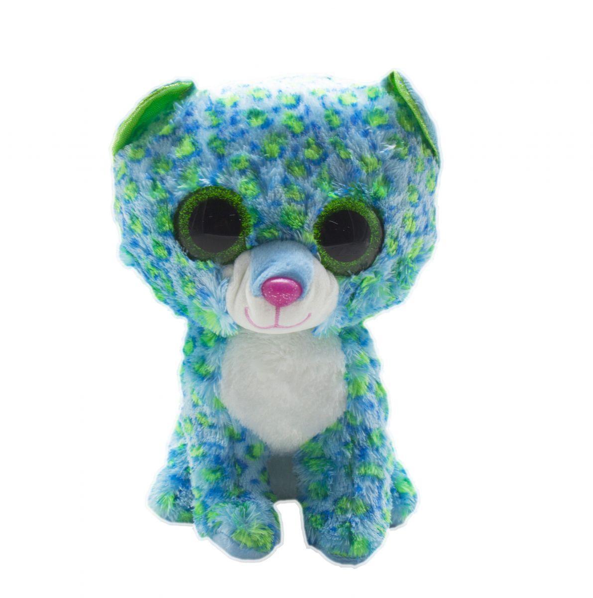 Мягкая игрушка Глазастик: Леопард (бирюзово-салатовый)