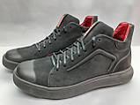 Стильные зимние нубуковые ботинки под кеды Madoks, фото 3