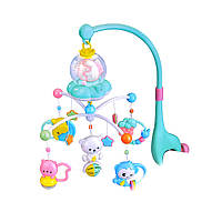 Детская музыкальная карусель (мобиль) на кроватку синий Bambi BA6760