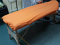 Чехол для кушетки из спанбонда оранжевый с резинкой Тимпа, 5 шт