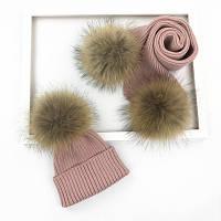 Детская шапка + шарф зимняя