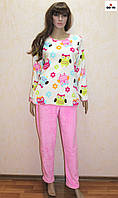 Пижама женская махровая теплая зимняя 40-58 р.