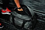 Не промокаемая сумка найк Nike для спортазала и путешествий Коттон Темно-серая ViPvse, фото 2