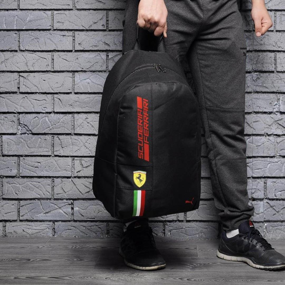 Спортивный городской рюкзак Puma Scuderia Ferrari пума Феррари Черный Vsem