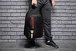 Спортивный городской рюкзак Puma Scuderia Ferrari пума Феррари Черный Vsem, фото 9